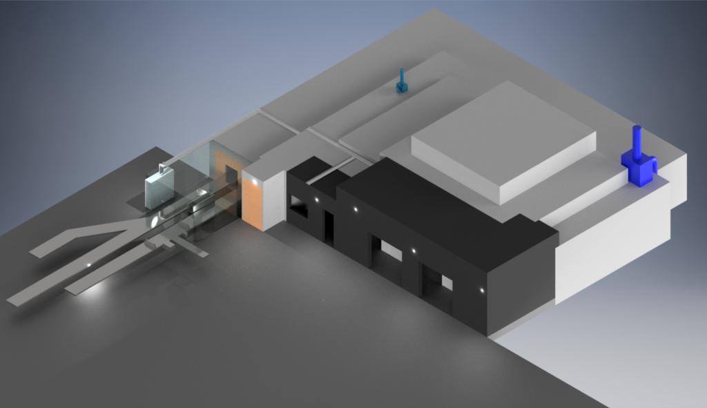 Mevex e-beam facility